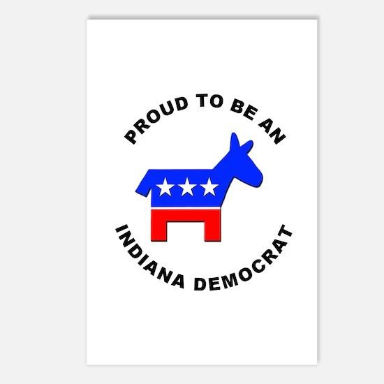 Indiana Democrat Pride Postcards (Package of 8)