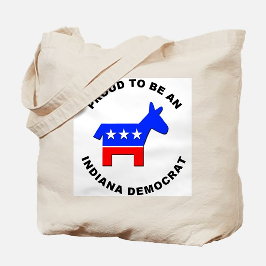 Indiana Democrat Pride Tote Bag