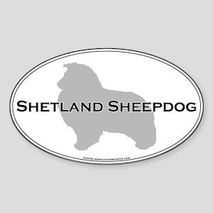 Shetland Sheepdog Oval Sticker