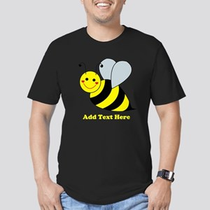 Cute Bumble Bee Men's Fitted T-Shirt (dark)