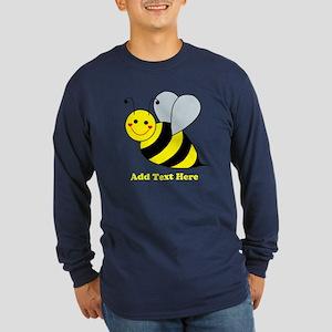 Cute Bumble Bee Long Sleeve Dark T-Shirt