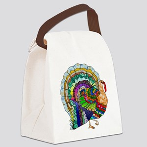 Patchwork Thanksgiving Turkey Canvas Lunch Bag