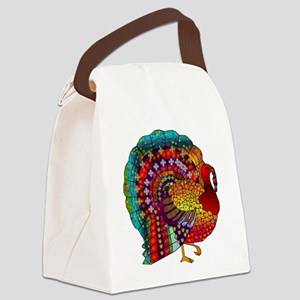 Thanksgiving Jeweled Turkey Canvas Lunch Bag