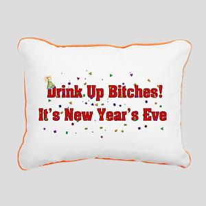 Drink Up Bitches Rectangular Canvas Pillow