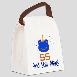 55th_birthday01 Canvas Lunch Bag