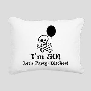 50th_birthday03 Rectangular Canvas Pillow
