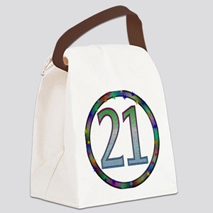 21st_birthday02 Canvas Lunch Bag