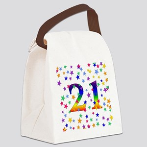 21stbirthday01 Canvas Lunch Bag
