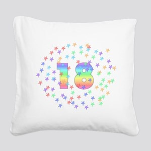18thbirthday01 Square Canvas Pillow