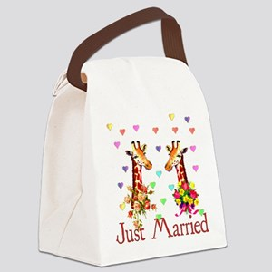 just_married01 Canvas Lunch Bag