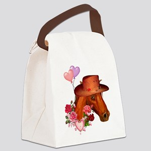valentinesday_horse01 Canvas Lunch Bag