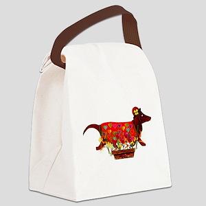 valentine_dog01 Canvas Lunch Bag
