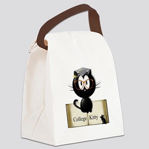 college kitty Canvas Lunch Bag