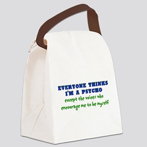 humor_saying_voices02 Canvas Lunch Bag
