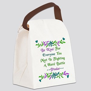 be_kind01 Canvas Lunch Bag