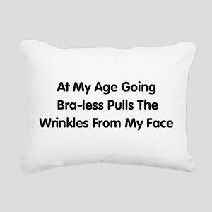 braless01 Rectangular Canvas Pillow