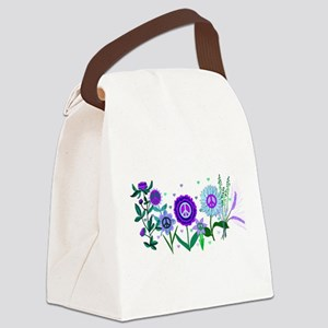 Growing Peace Canvas Lunch Bag