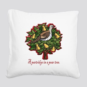 A PARTRIDGE IN A PEAR TREE Square Canvas Pillow