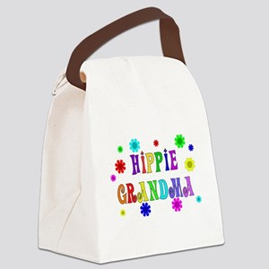Hippie Grandma Canvas Lunch Bag