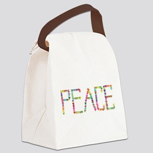 Peace Hearts Canvas Lunch Bag