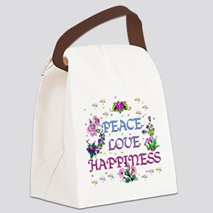 happiness01 Canvas Lunch Bag