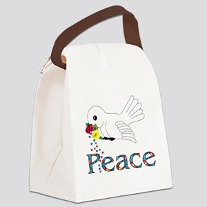 Peace Bird Canvas Lunch Bag