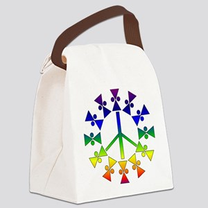 rainbowpeace01a Canvas Lunch Bag