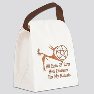 wiccan_saying02 Canvas Lunch Bag