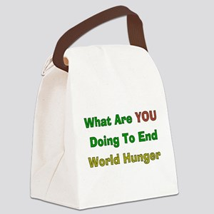World Hunger Canvas Lunch Bag