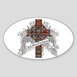 MacFarlane Tartan Cross Sticker (Oval)