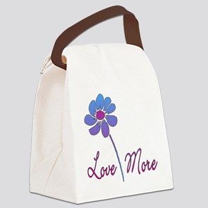 Love More Daisy Canvas Lunch Bag