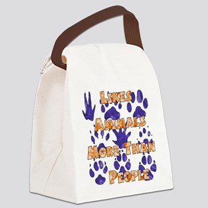 animal_lover01 Canvas Lunch Bag