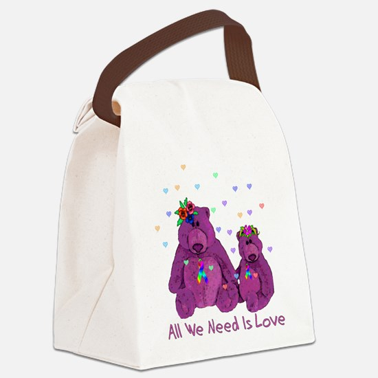 2-lovebears01.png Canvas Lunch Bag