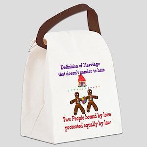 gaymarriage01a Canvas Lunch Bag