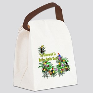 save_the_rainforest01 Canvas Lunch Bag