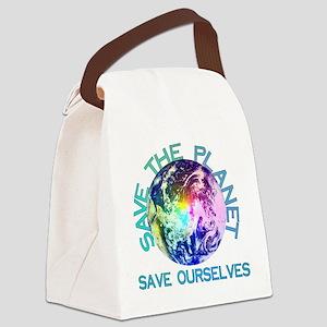 earthday_01a Canvas Lunch Bag