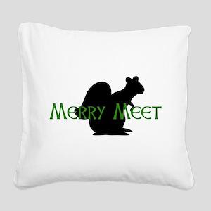 spirit_animal_squirrel01 Square Canvas Pillow