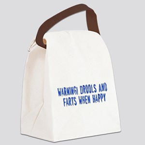 drools01 Canvas Lunch Bag