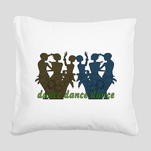 dance01 Square Canvas Pillow