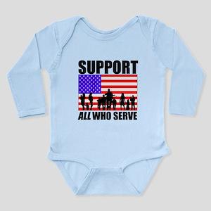 Support All Long Sleeve Infant Bodysuit