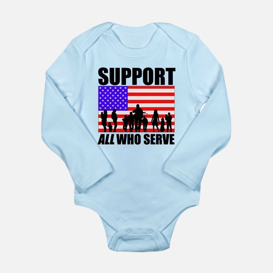 Support All Long Sleeve Infant Bodysuit