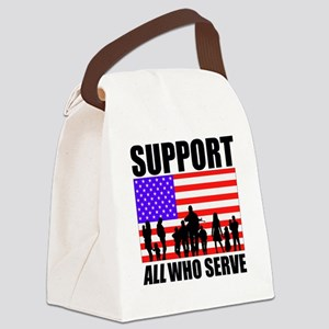 Support All Canvas Lunch Bag