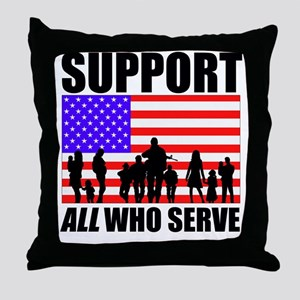 Support All Throw Pillow