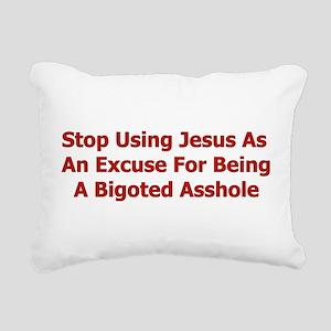 bigoted_asshole01 Rectangular Canvas Pillow