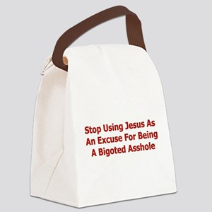 bigoted_asshole01 Canvas Lunch Bag