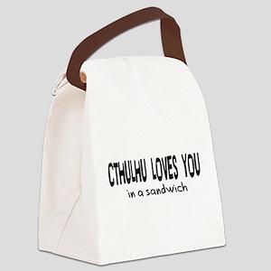 cthulhu01b Canvas Lunch Bag