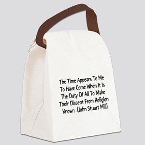 2_millquote01b Canvas Lunch Bag