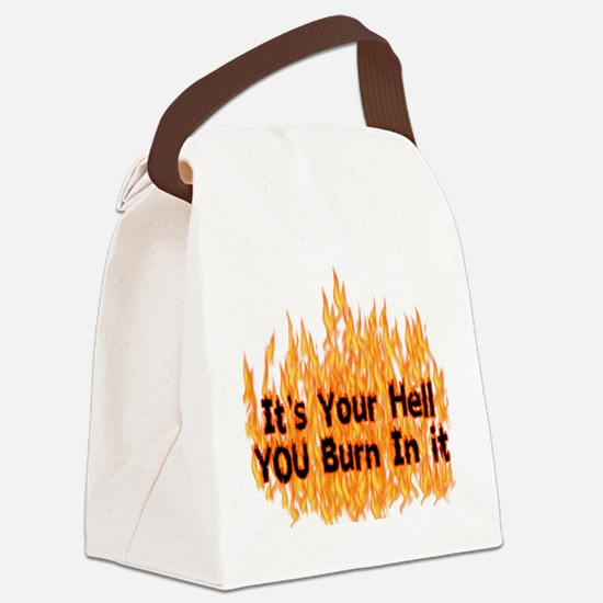 hell01.png Canvas Lunch Bag