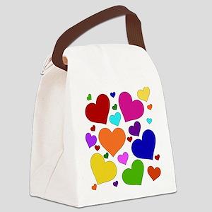 rainbow_hearts_valentine01 Canvas Lunch Bag