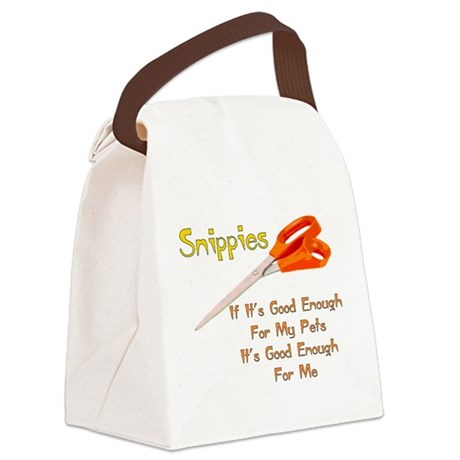 snippies01.png Canvas Lunch Bag
